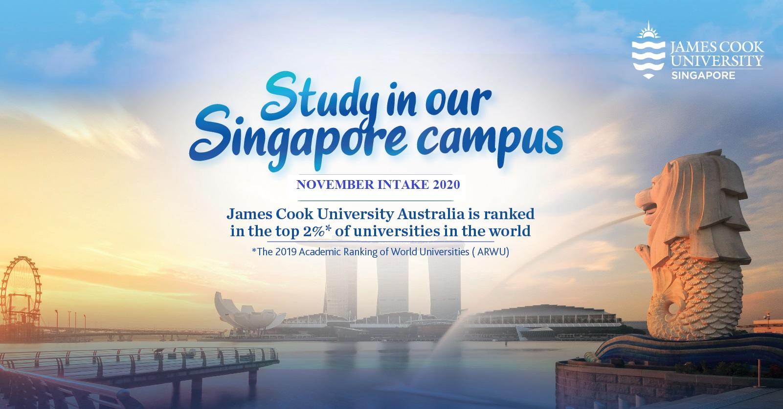 Học bổng du học Đại học James Cook Singapore kỳ tháng 11.2020 - Cơ hội nhận học bổng dễ chưa từng có